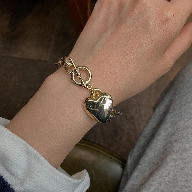 Pulseras de amor de moda de Corea para mujer, pulsera de aleación...