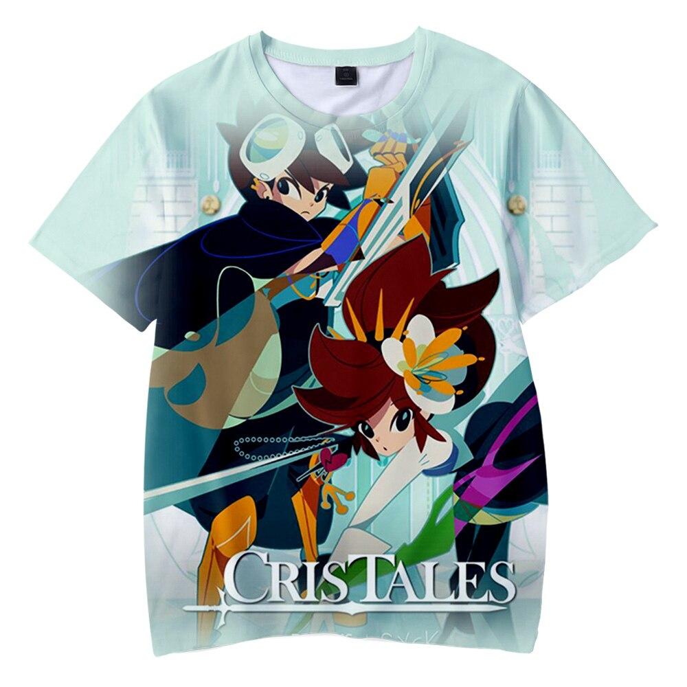 Juego CrisTales 3d camiseta para hombre estampada mujeres juego Streetwear Popular divertido...
