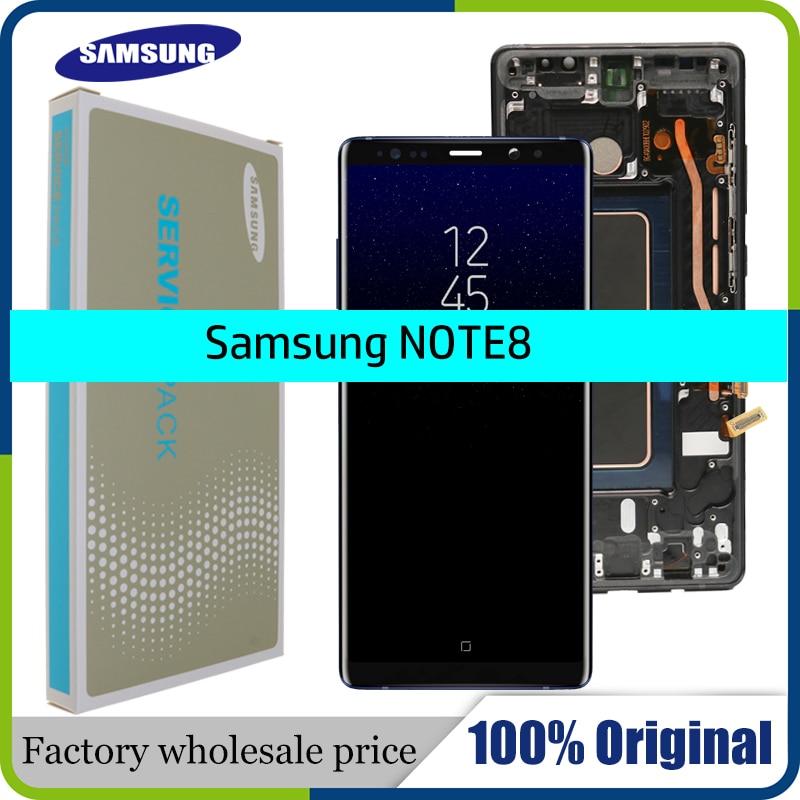 Nuevo pantalla super amoled Original de 6,3 pulgadas para SAMSUNG Galaxy NOTE8 LCD N950 N950F pantalla táctil de reemplazo partes + marco