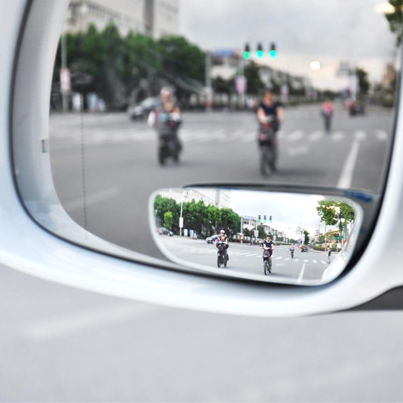 2 pces 360 graus sem moldura espelho de ponto cego grande curvo espelho convexo pequeno lado redondo blindspot retrovisor espelho de estacionamento