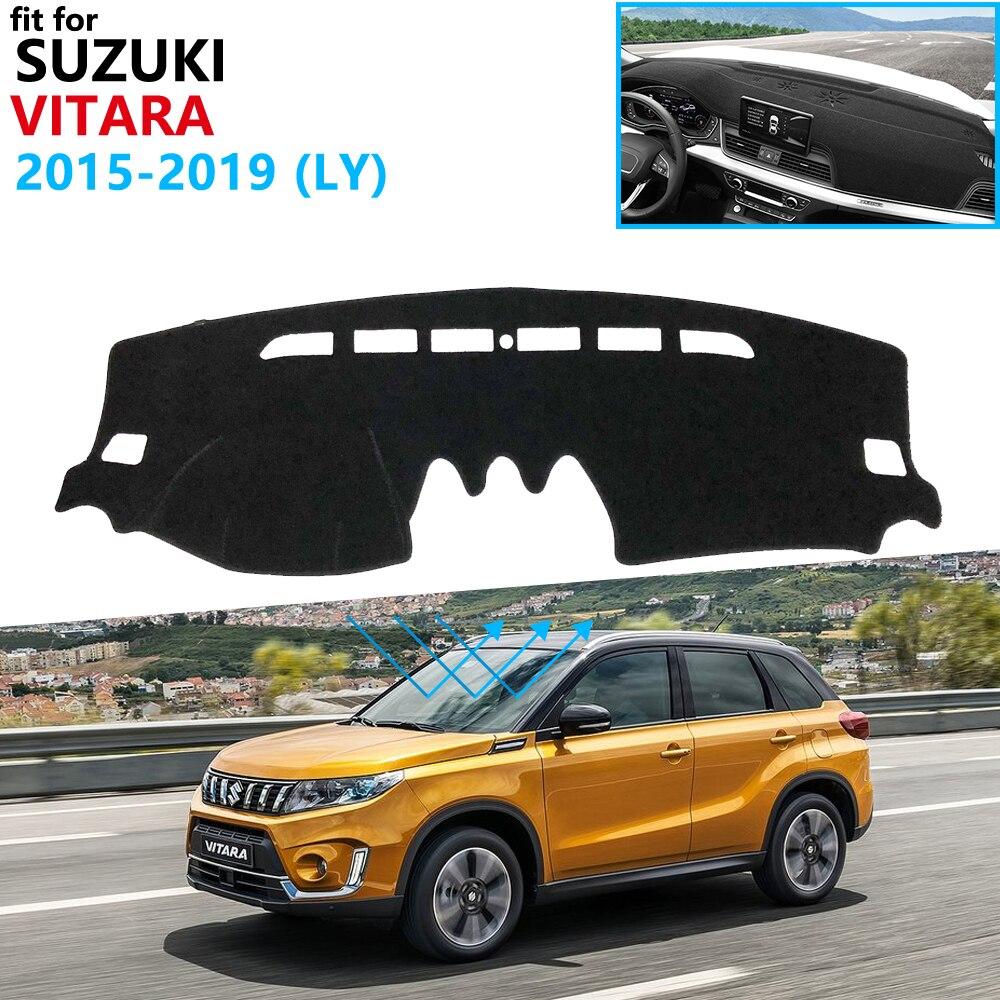 Защитная накладка на приборную панель для Suzuki Vitara LY 2015 2016 2017 2018 2019 Escudo спортивные аксессуары приборная панель Солнцезащитная накидка