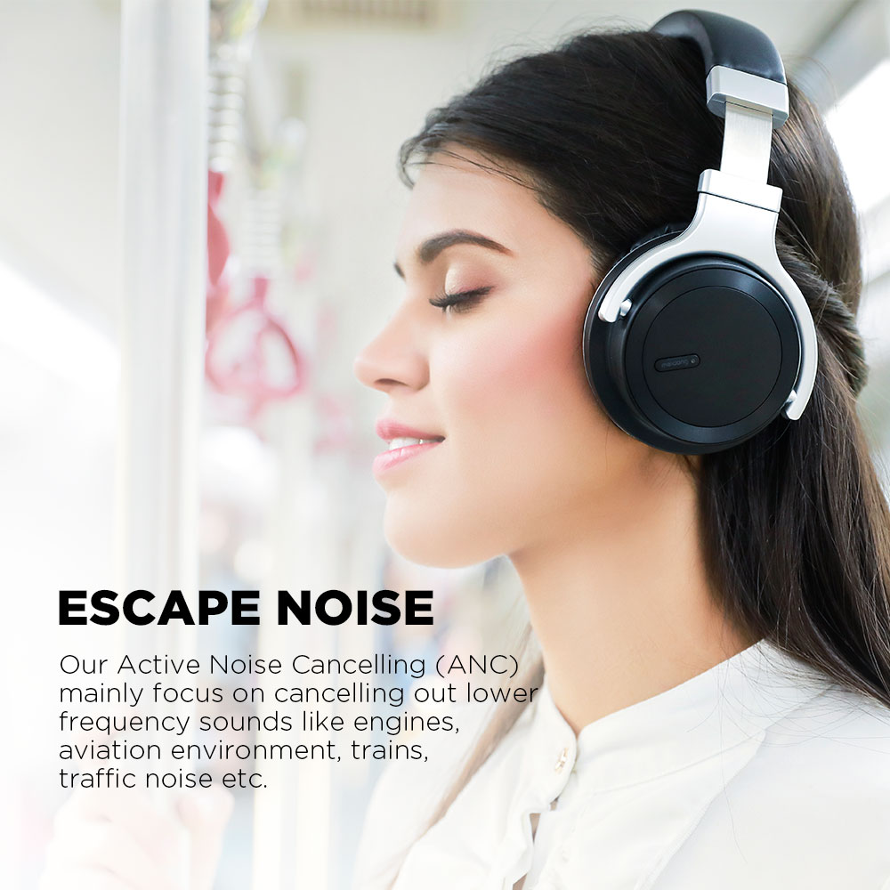 Meidong E7MD-PRO Bluetooth Headphones Wireless Active Noise Cancelling Headphones Deep Bass Handsfree call ANC Headset with Mic enlarge