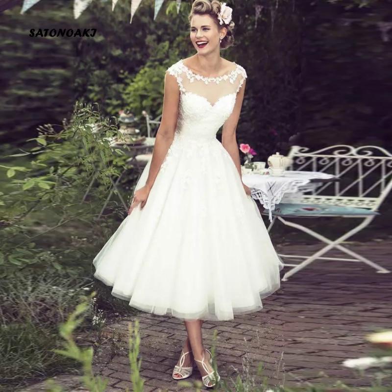 Vestidos De Novia De encaje De marfil Vintage para mujer, Vestido De...