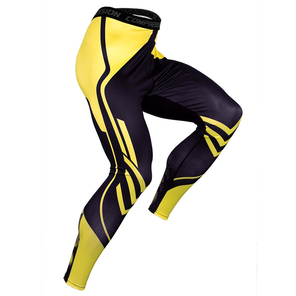 Pressure Compression Pants Men Running Sport Gym Fitness Jogging Quick Dry Tight Workout Training