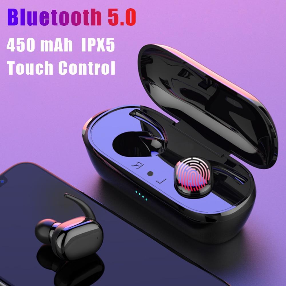 Y30 TWS сенсорные Bluetooth 5,0 наушники беспроводные 4D стерео наушники с активным шумоподавлением игровая гарнитура для airdo