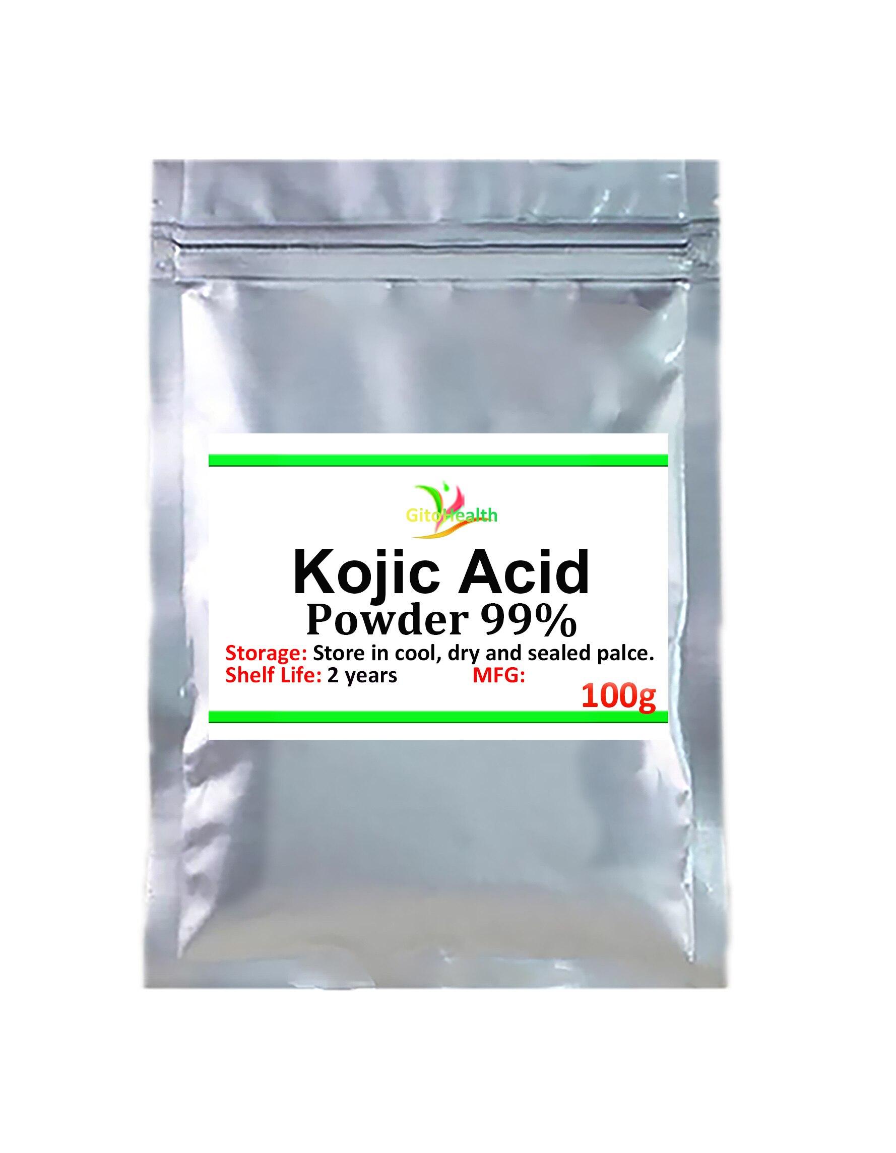 00-1000g alta calidad 99% polvo de Ácido Kójico, blanqueamiento de la piel