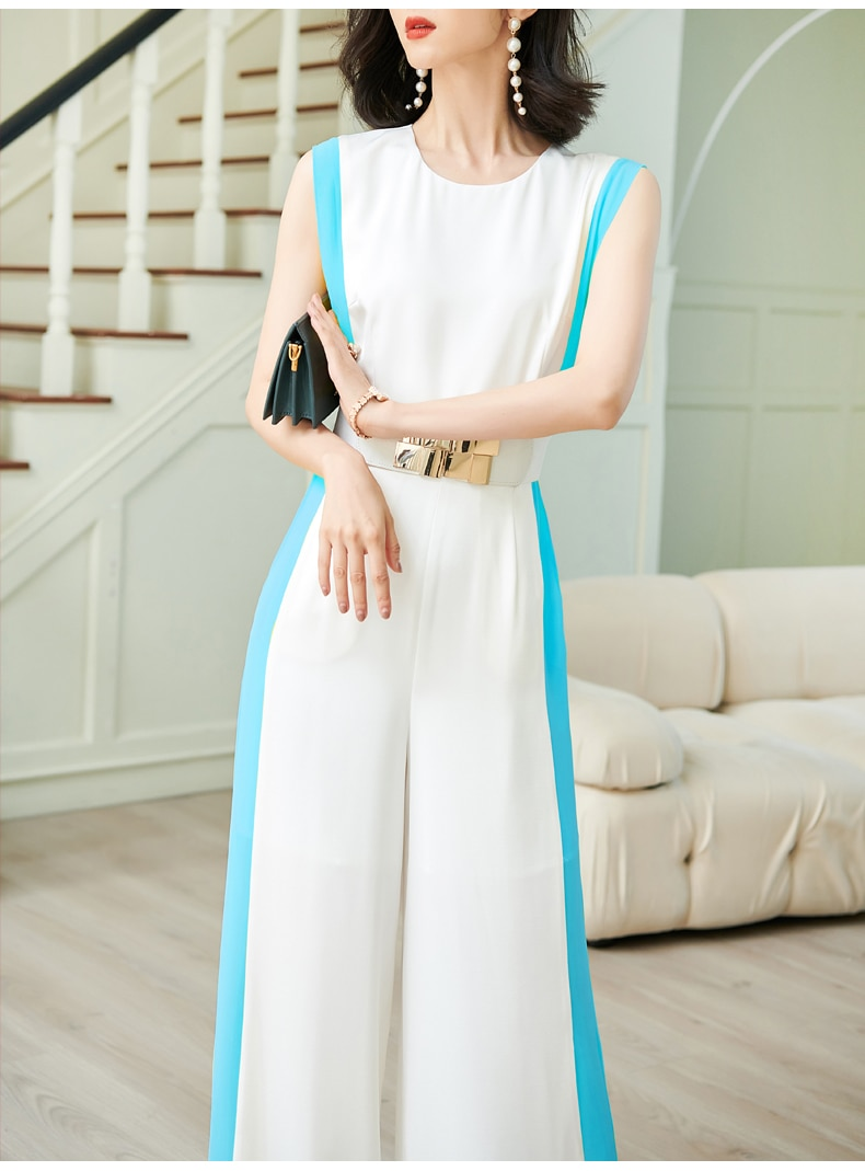 new summer office lady Fashion casual loose plus size brand female women girls sleeveless jumpsuits clothing enlarge