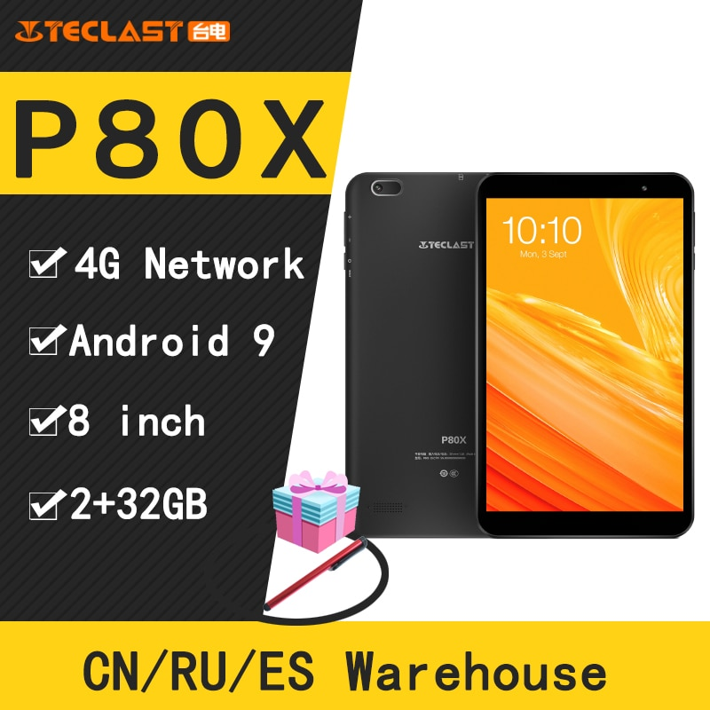 Teclast P80X 8 zoll 4G Tablet Android 9,0 SC9863A IMG GX6250 Octa Core 1,6 GHz 2GB RAM 32GB ROM Dual Kameras Tablet pc