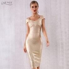 ADYCE nouveau été Bandage robe femmes Vestidos Verano 2020 Sexy col en V hors épaule célébrité robe de soirée Sexy Club moulante robe