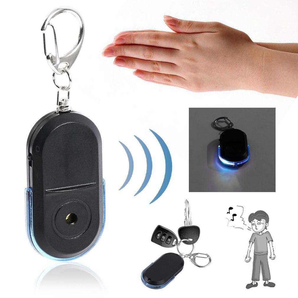 Новинка, Лидер продаж, детектор ключей от потери брелок для ключей с локатором, свисток со светодиодный светильник кой, мини-детектор ключей от потери, датчик в наличии!