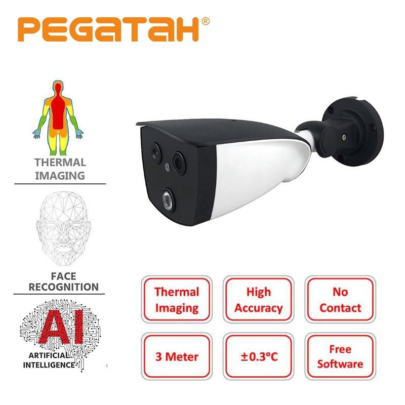 Câmera térmica binocular térmica para detecção de febre câmera térmica do imager da câmera 1080 p ai do ip do reconhecimento de cara