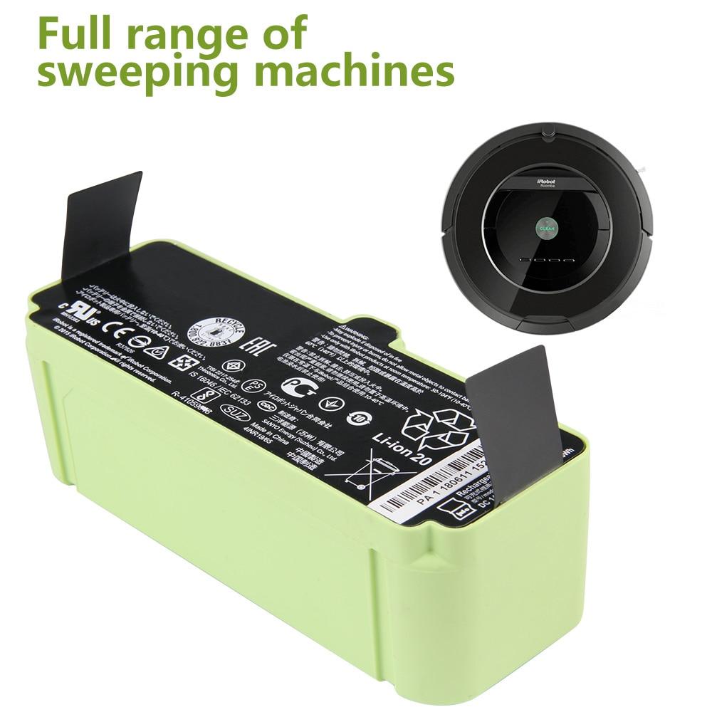 4500mah xlife extended life replacement battery for irobot roomba r3 500 600 700 800 900 series 530 531 532 Original Replacement 1800LI 2130LI Battery iRobot Roomba 500 600 700 800 Series Vacuum Cleaner 785 530 560 650 1800mAh 2130mAh