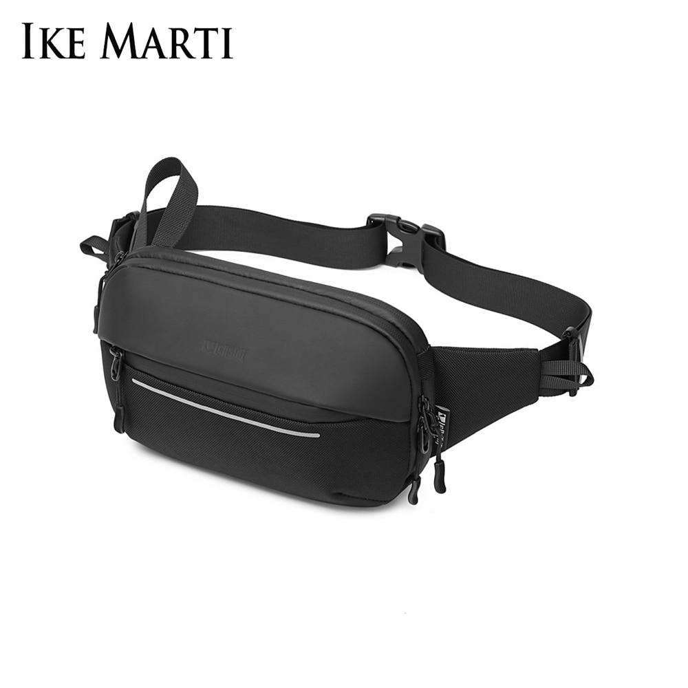 IKE MARTI New Men's Shoulder Bag Sports Simple Fashion Multifunctional Chest Bag Expandable Messenger Waist Crossbody Bag Pack