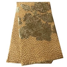 gold Lace Fabric New Design African Jacquard Lace French Net Material For Women Party Dress