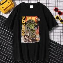 Broccozilla ญี่ปุ่นการ์ตูนพิมพ์ Mens เสื้อยืดฤดูร้อน Crewneck Tee เสื้อผ้า Breathable S-XXXL T เสื้อ Simplicity Casual Tops Man