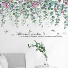 Autocollant Mural feuille deucalyptus   Ligne de plinthes, photos murales pour salon, Vestibule chambre à coucher, décoration murale de fond, Art Mural