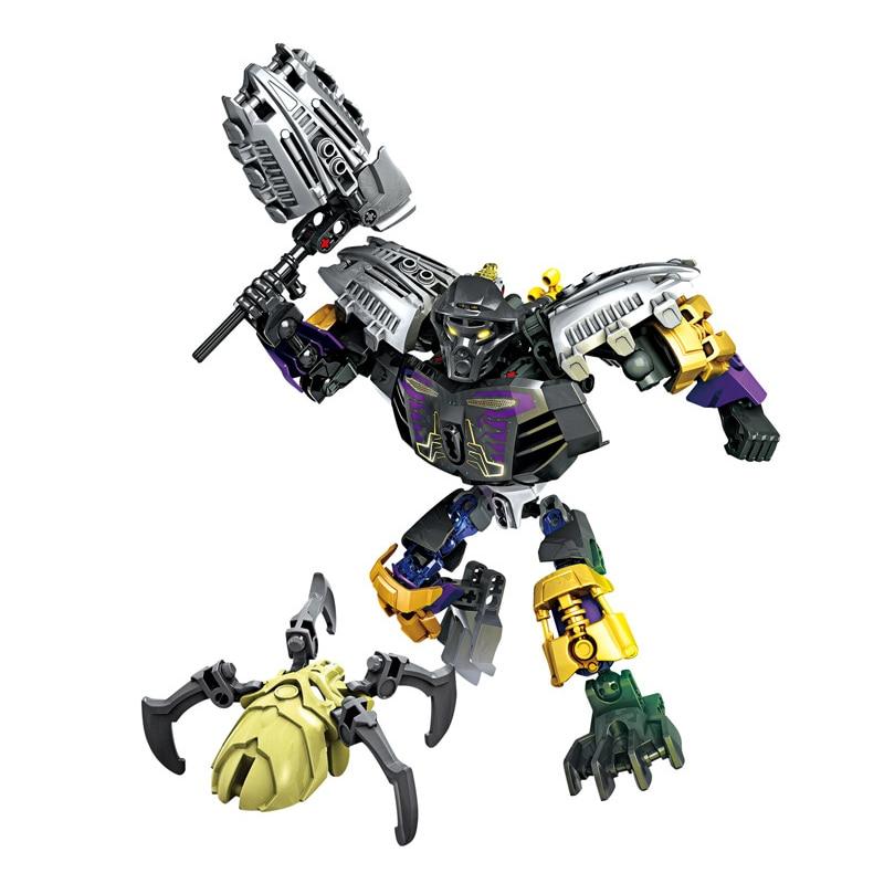 Bela BionicleMask of Light XSZ 708-1, bloques de construcción para niños de Onua Master Of Earth Bionicle, compatibles con 70789