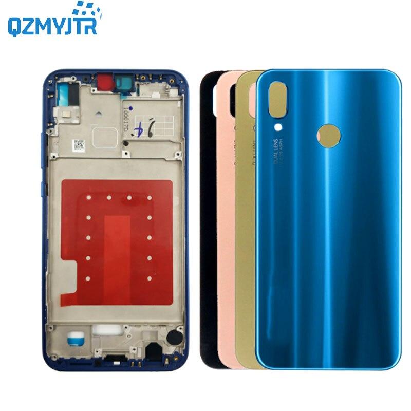 Замена для Huawei p20 lite/nova 3E средняя рамка Передняя Крышка корпуса ЖК-дисплея рамка пластина шасси + задняя крышка батареи с инструментами