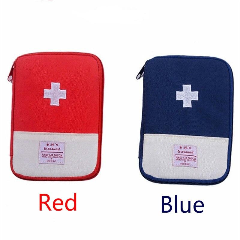 Mini estuche para botiquín de primeros auxilios portátil para viajar al aire libre, medicina, Paquete de bolsas de Kit de emergencia, pequeño organizador divisor de almacenamiento de medicina