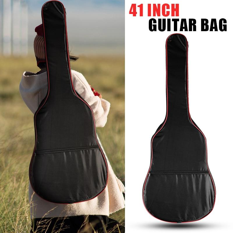 Funda de guitarra de 40/41 pulgadas, funda de transporte, mochila 600D Oxford acústica Folk, funda tipo bolsa para guitarra con correas de hombro dobles