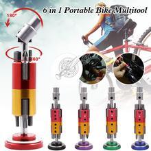 Outil de réparation de vélo Multitool Portable multi-fonction dans la manivelle avec des embouts de tournevis à clé hexagonale