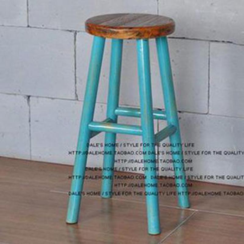 American Loft Solid Wood Bar Chair Creative High Chair European Bar Chair Simple High Chair