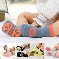 springautumnwintersummer thin and breathable non slip floor socks boy and girl rubber socks home socks cotton candy color