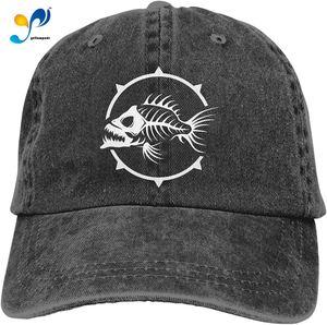 Yellowpods Fish Skeleton Casquette Baseball Dicer Vintage Adjustable Casquette Cap Cowboy Hat Shading Function Unisex
