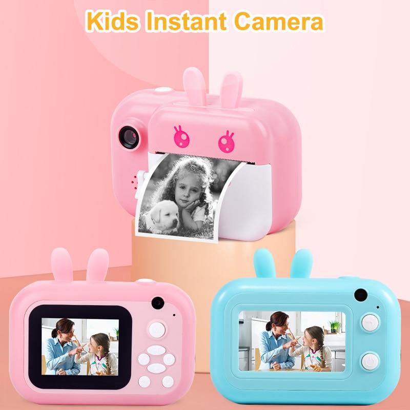 الطفل الطباعة الفورية كاميرا الطباعة الحرارية كاميرا رقمية كاميرا فوتوغرافية للأطفال كاميرا فيديو لعب أفضل الهدايا للفتيات الصبي
