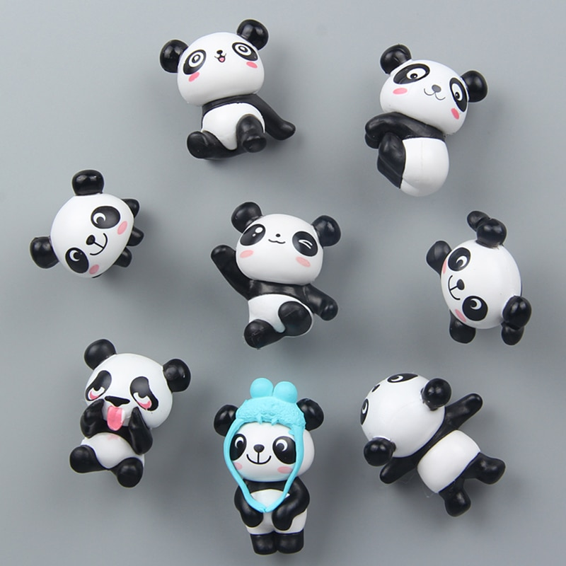8 unids/set imán de nevera lindo Panda de dibujos animados imán mensaje Post para una decoración de muebles para el hogar C1121 b