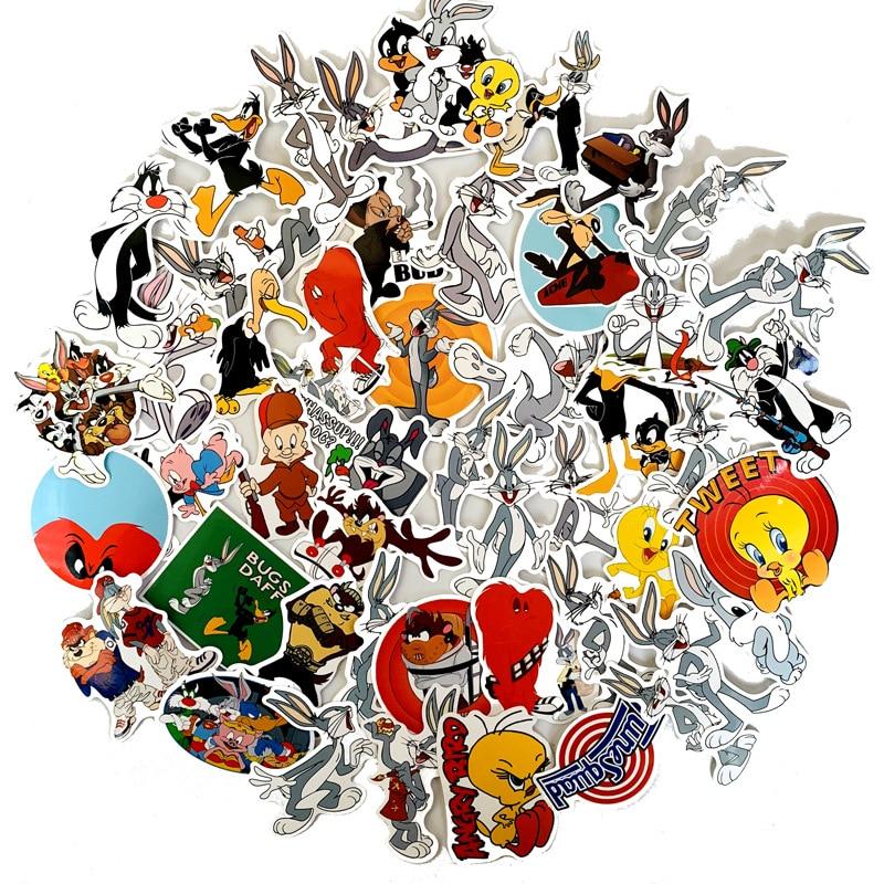50pcs-americano-commedia-fumetto-bugs-bunny-sticker-impermeabile-del-motociclo-della-bicicletta-bagaglio-decalcomania-adesivi-valigia