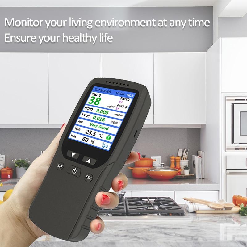 DM106A Handheld Air Quality Analysis Tester Smog/Dust/Formaldehyde Air Quality Detector Analyzer Measuring Tool