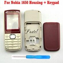 Para Nokia 1650 piezas de repuesto de alta calidad nueva carcasa para teléfono móvil completa + Teclado + herramientas, envío gratis
