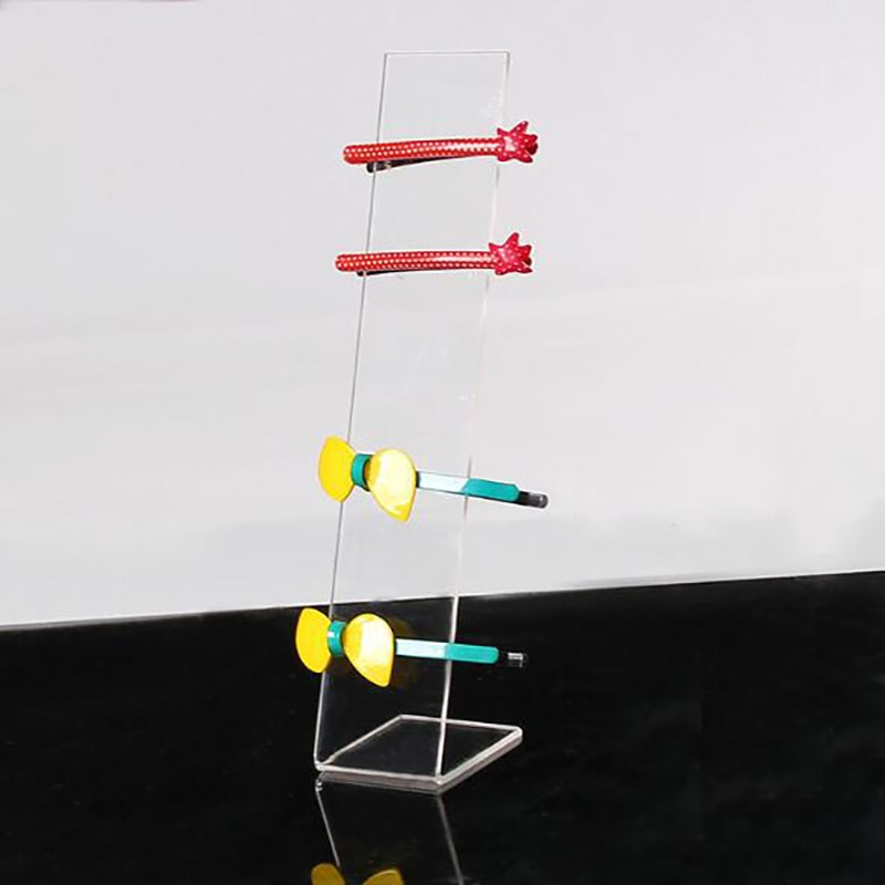 Accesorios de acrílico para la cabeza, soporte para presentación de joyería en forma de L, accesorios para el pelo, soporte de exhibición 4x5x19cm