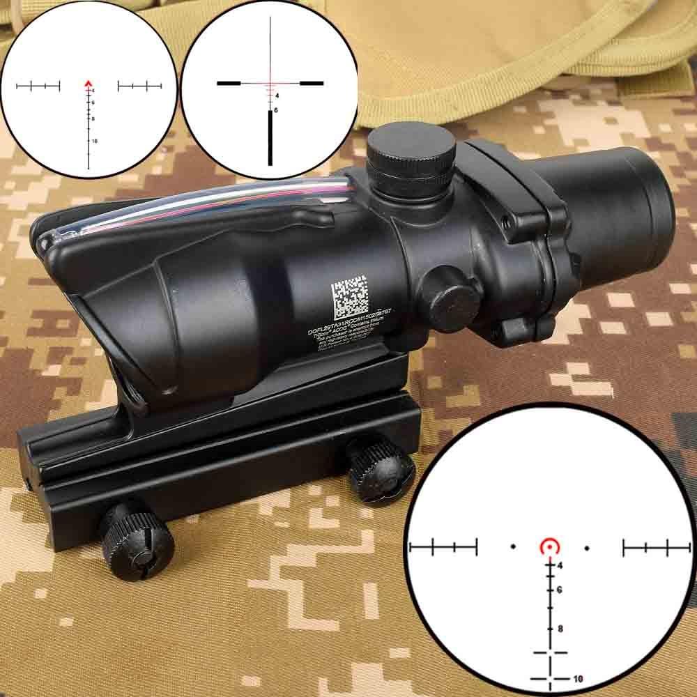 الصيد 4X32 نطاق الألياف الحقيقية BDC شيفرون حدوة الحصان شبكاني مشاهد بصرية تكتيكية ل cal .223 .308