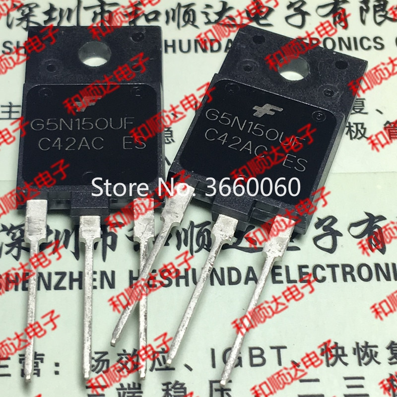 5pcs/lot  SGF5N150UF G5N150UF  TO-3PF 1500V 5A
