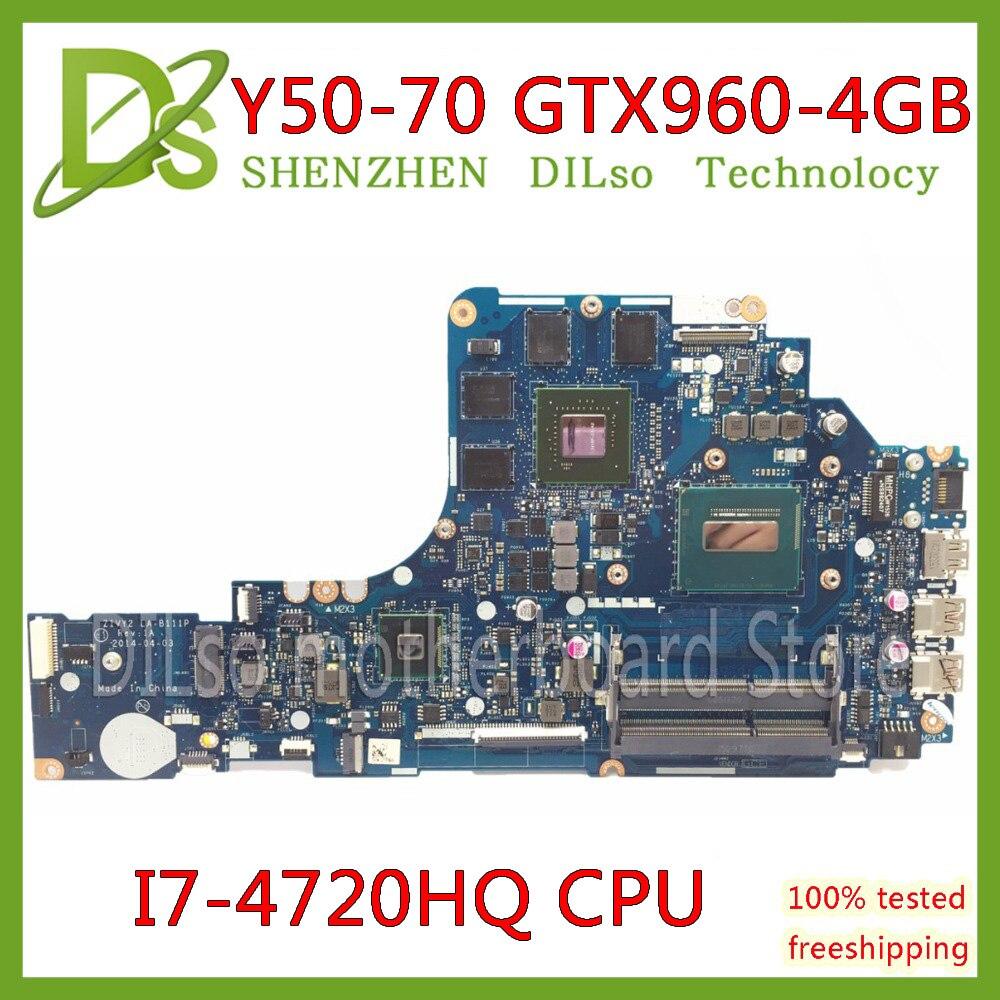 KEFU ZIVY2 LA-B111P placa base para Lenovo Y50-70 placa base de computadora portátil i7-4720HQ GTX960M-4GB original y testado placa base portátil