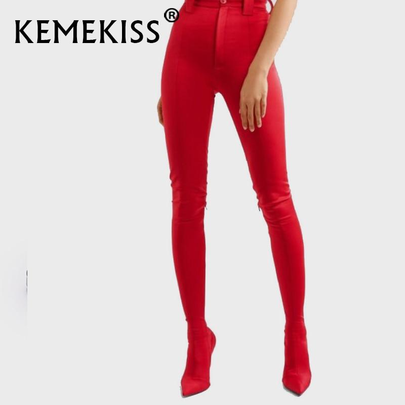 KemeKiss-حذاء نسائي ضيق مرن ، جزمة فوق الركبة ، اثنان في واحد ، مقاس 34-48