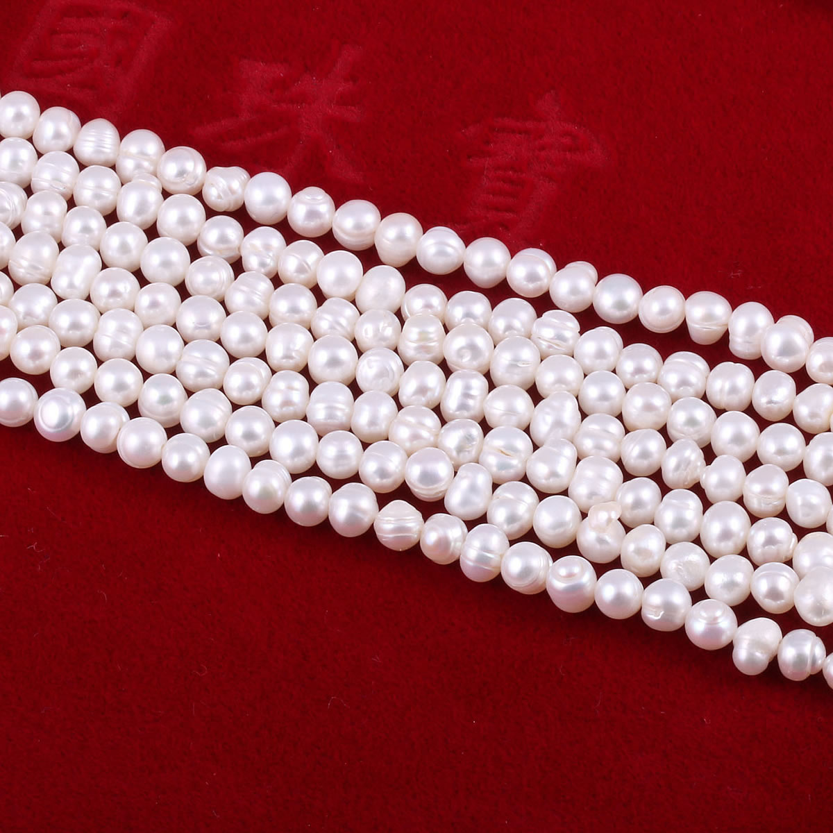 Real Pearl Loose Beads Natural Freshwater Pearls for Women Jewelry Making Bracelet DIY Necklace Accessories 5-6mm  - buy with discount