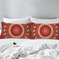 50x90cm home decor pillow case gold geometric mandala print pillows cover living room accessories home decor cushion cover