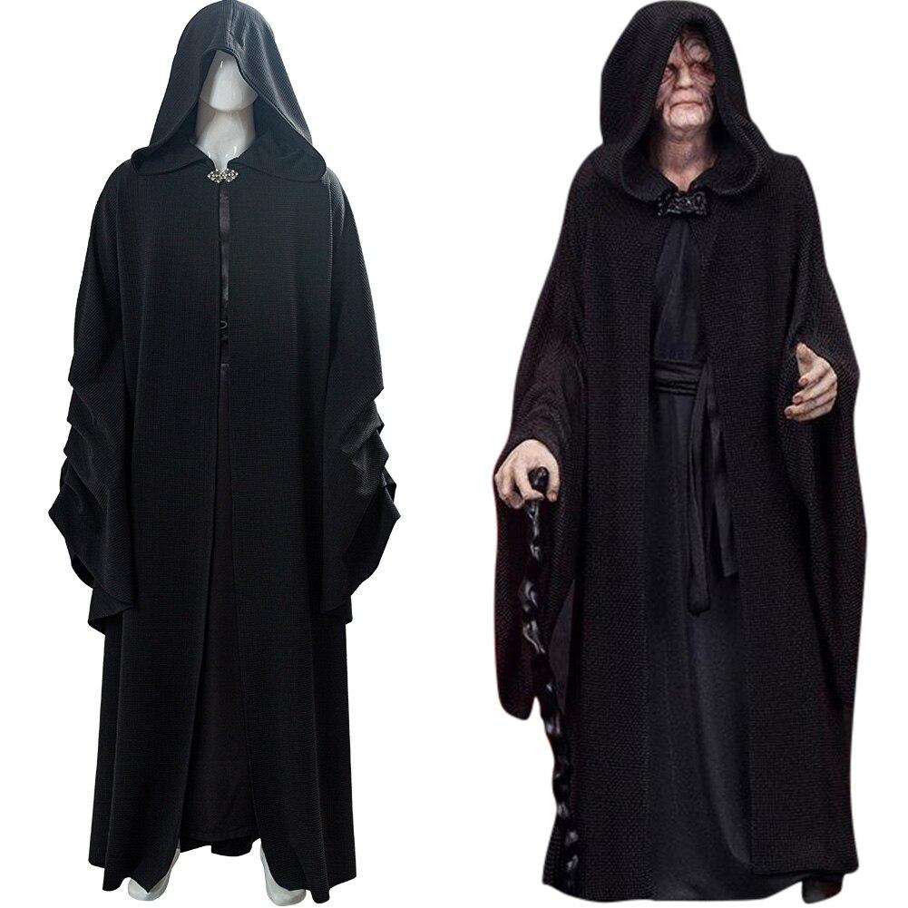 Gwiazda Cosplay Darth Sidious kostium Sheev Palpatine szata czarny płaszcz kostium na halloween mężczyźni kobiety
