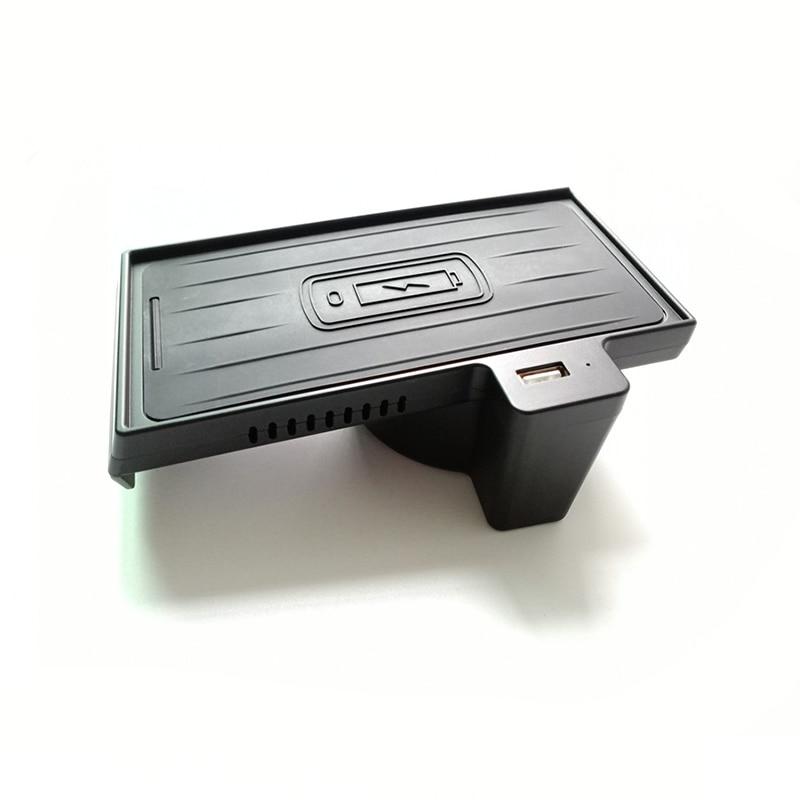Cargador de coche inalámbrico de 10W para IPhone 11 Pro para Samsaung carga rápida inalámbrica para BMW X5 F15 X6 F16
