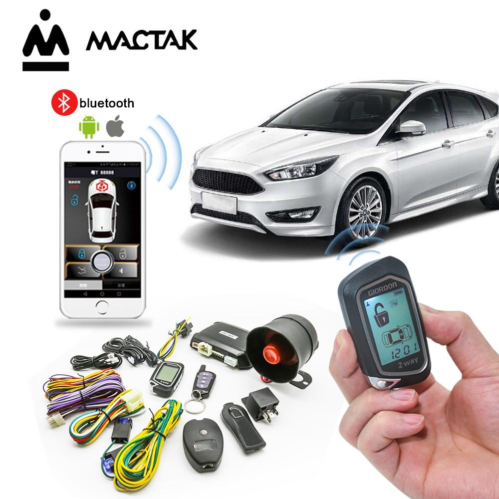 Sistema de alarma para coche programable con pantalla LCD colorida de 100M con arranque de motor a distancia Sensor de inclinación de arranque de 2 vías