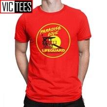 Männer T-Shirt Baywatch Lifeguard Lustige 100 Prozent Baumwolle Strand Bay Uhr Lifeguarding Uniform T Hemd Camisas Hombre Übergroßen