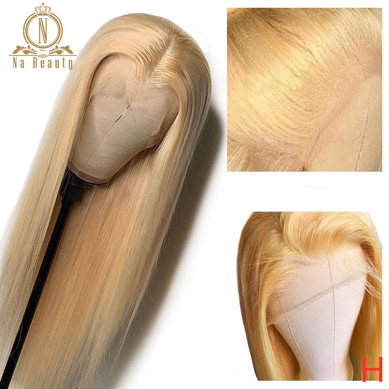 Straight Blonde 613 Full Lace Wig Human Hair Wigs For Women Brazilian Pre Plucked HD Full Lace Human