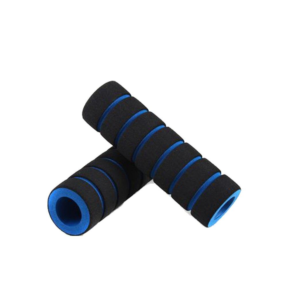 Empuñadura de espuma para manillar de motocicleta, cubierta antideslizante de 2 piezas/1 par de empuñaduras para bicicleta de carrera, 2019 empuñaduras, accesorios para bicicleta al aire libre, azul
