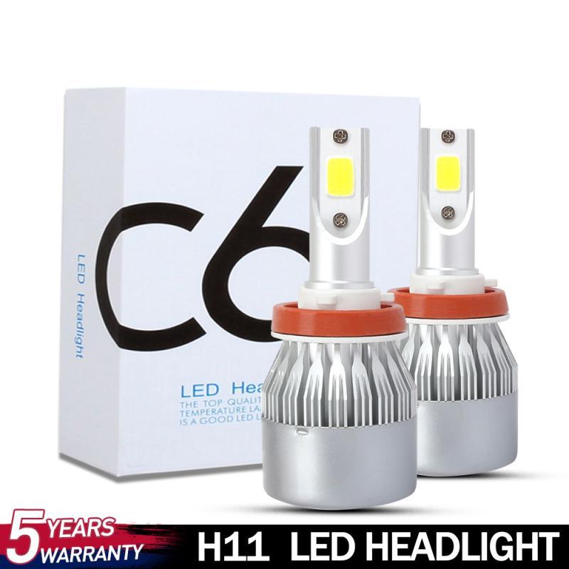3000K 9-32V C6 Super Bright White Cool Turbo Fan Car Headlight 72W H8 H9 H11 head lamp Led Bulbs Car Light Headlight Bulbs