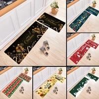 non slip absorbent christmas mat xmas door floor doormat rug long kitchen carpet rectangle outdoor indoor home decor