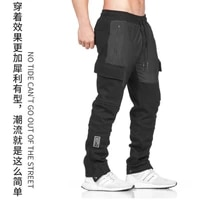 2021 mens overalls fitness basketball pants straight loose pocket cotton large mens sports pants