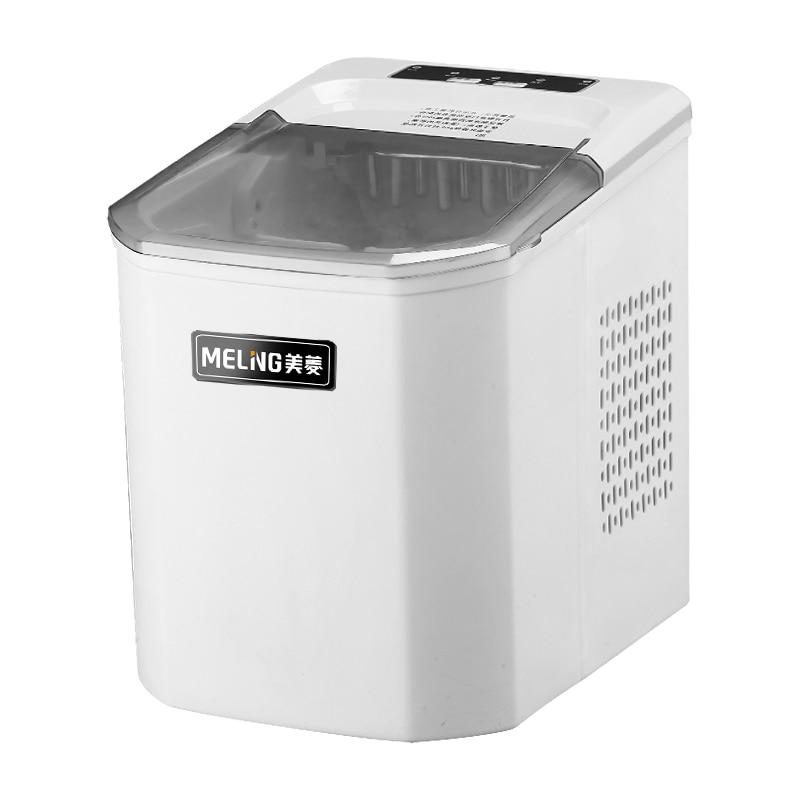 Meiling Ice Maker Commercial Milk Tea Shop 10kg Household Small Barrel Desktop Automatic Mini Ice Cube Maker